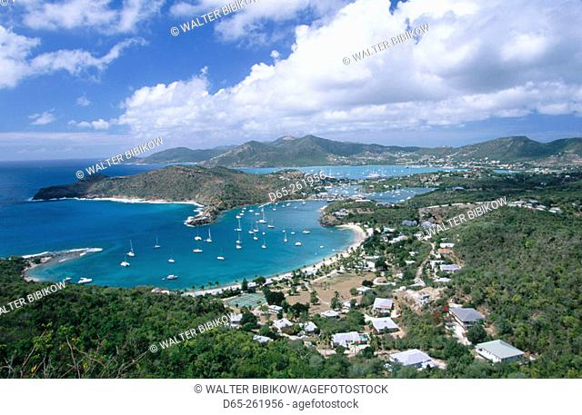 Historic Nelson's Dockyard. View from Shirley Heights. Antigua. Antigua and Barbuda. West Indies. Caribbean