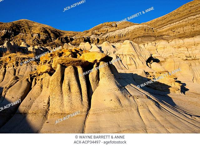Hoodoo formation in The Badlands, Drumheller, Alberta, Canada