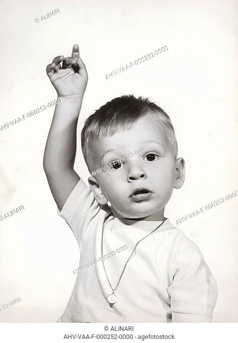 Portrait of an infant, shot 1960 ca. by Villani Achille