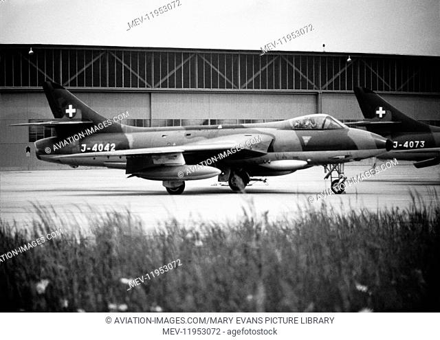 Swiss Airforce Hawker Hunter Parked