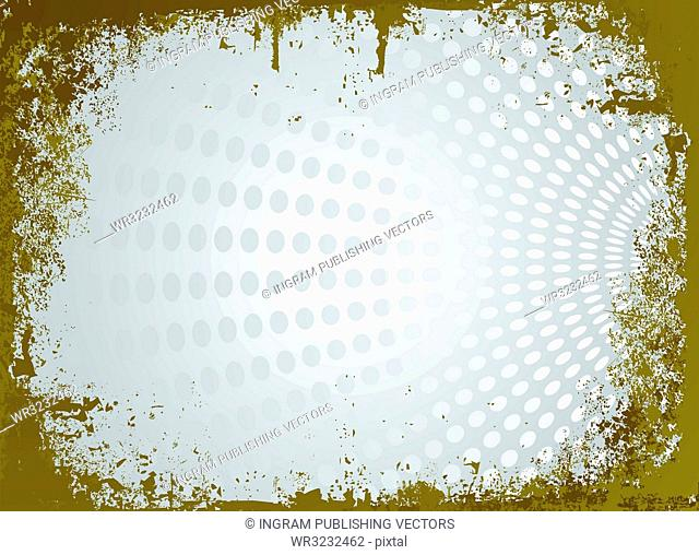 silver and gold modern parchment with raged edges and a circular background design