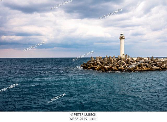 Lighthouse at Naha Port, Japan