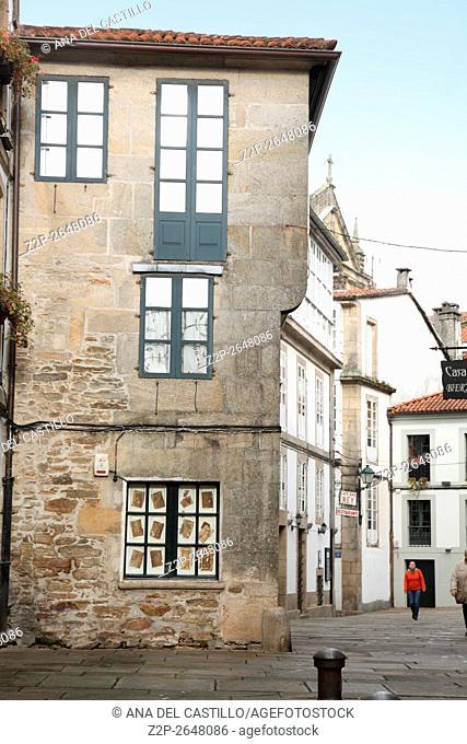 Santiago de Compostela old city in La Coruña Galicia Spain