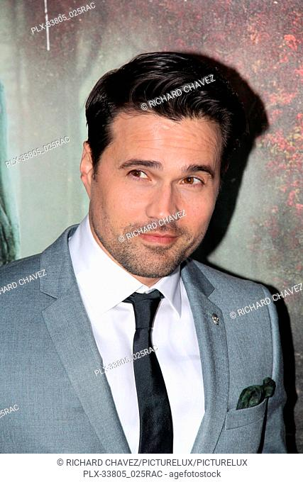 """Brett Dalton at the Warner Bros. Premiere of """"""""The Curse of La Llorona"""""""". Held at the Egyptian Theater in Hollywood, CA, April 15, 2019"""