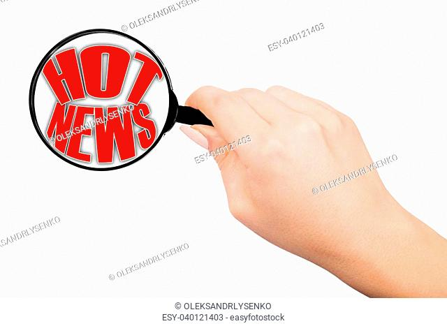 search hot news in all media, illustration