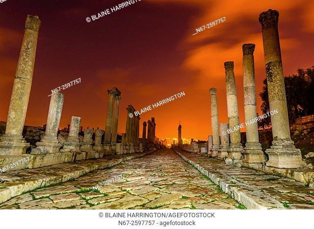 The Colonnaded Street, Greco-Roman ruins, Jerash, Jordan
