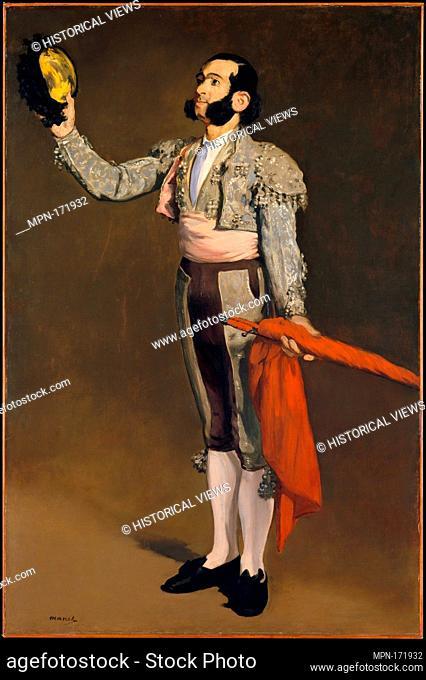 A Matador. Artist: Édouard Manet (French, Paris 1832-1883 Paris); Date: 1866-67; Medium: Oil on canvas; Dimensions: 67 3/8 x 44 1/2 in. (171
