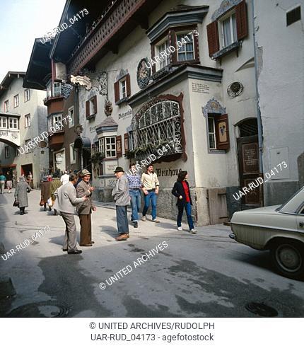 Reise nach Kufstein in Tirol, Österreich 1980er Jahre. Journey to Kufstein in Tyrol, Austria 1980s