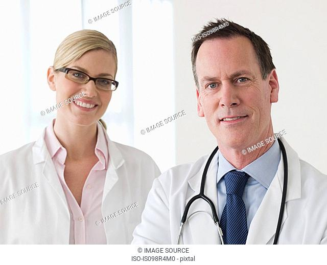 Two smiling doctors