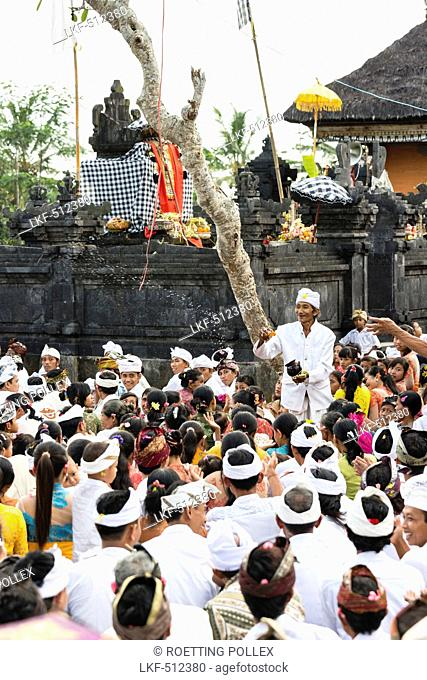 Balinese people at Odalan temple fest, Iseh, Sidemen, Karangasem, Bali, Indonesia