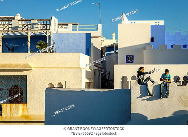 A Young Local Man Takes A Selfie In The Medina, Asilah, Morocco
