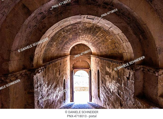 Spain, Autonomous Community of Aragon, province of Huesca, fortress of Loarre (11th-13th century)