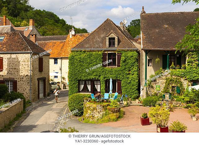 France, Indre (36), Gargilesse-Dampierre village, cottage