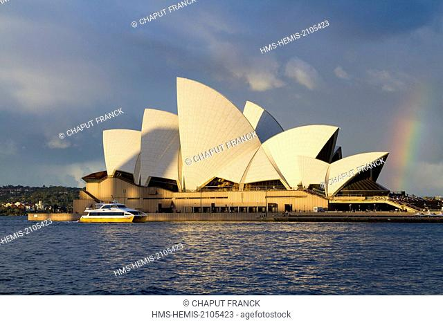 Australia, New South Wales, Sydney, Sydney Opera House by the architect Jørn Utzon listed World Heritage by UNESCO