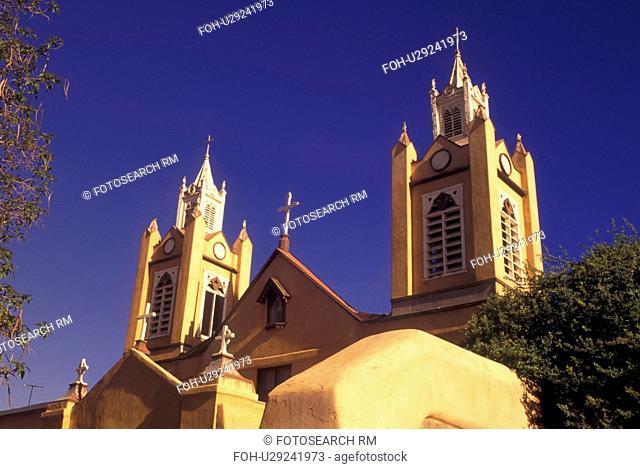 Albuquerque, NM, New Mexico, Old Town, San Felipe de Neri Church