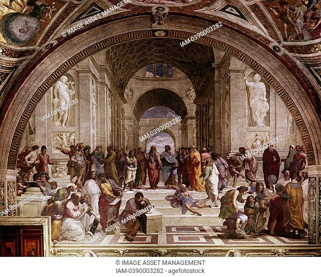 RAPHAEL 1483-1520 Raffaello Santi, Italian painter  The School of Athens  Vatican