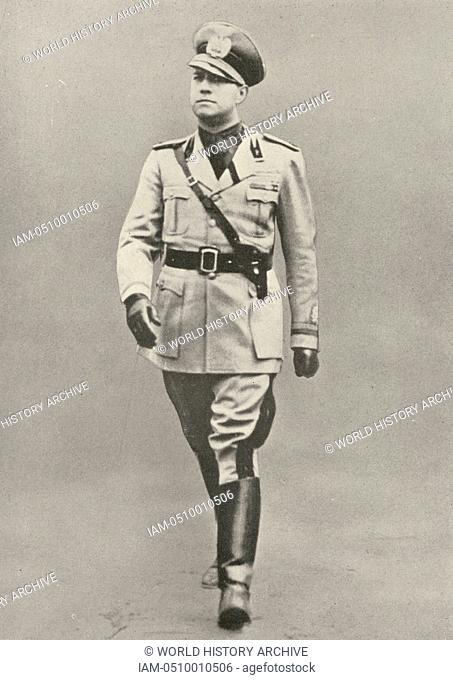 Gian Galeazzo Ciano, 2nd Count of Cortellazzo and Buccari (1903-1944) Italian Foreign Minister and son-in-law of Mussolini