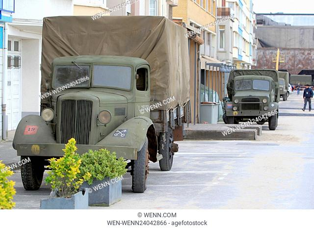 The filmset of war movie 'Dunkirk' on the exact spot where, 76 years ago this week, 100,000 soldiers were evacuated Featuring: Atmosphere Where: Dunkirk