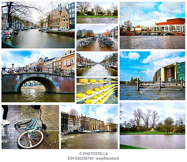 collage of Amsterdam photos Netherlands Holland