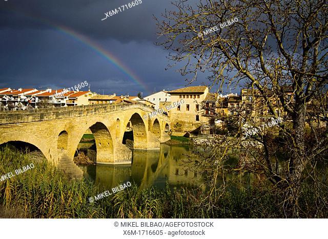 Pilgrims Bridge  Puente la Reina  Navarre, Spain