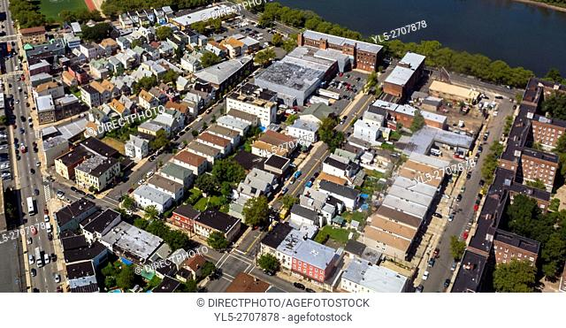 Newark, New Jersey, USA, Aerial View from Airplane,
