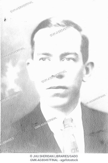 Portrait of American geologist George Edwin Dorsey, 1914