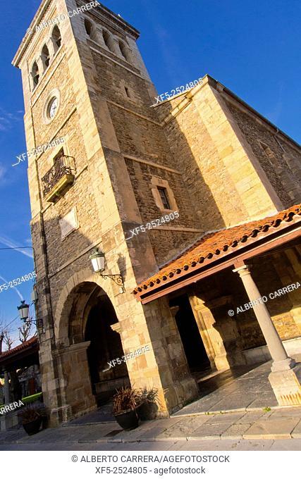 Church of St. Mary, Iglesia Parroquial de Santa María de Luanco, Luanco, Asturias, Spain, Europe
