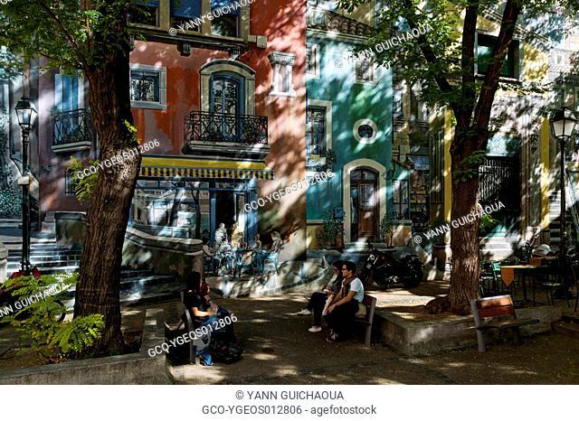 Painted Wall, Rue de la MÚditerranÚe, Montpellier,Languedoc Roussillon, France