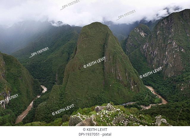 view of the historic inca site machu picchu, peru
