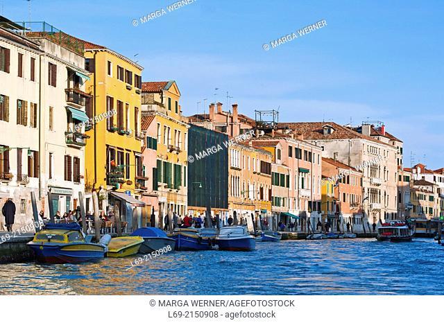 Cityscape with Canale di Cannaregio, Sestiere Cannaregio, Venice, Veneto, Italy,