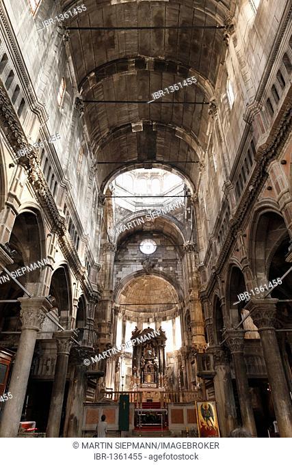 Interior of the Cathedral of St. James, Katedrala sv. Jakova, Sibenik, Dalmatia, Adriatic, Croatia, Europe