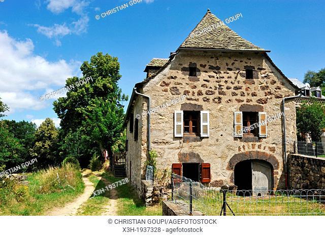 village of Sainte-Marie around the La Truyere River, Cantal department, Auvergne region, France, Europe