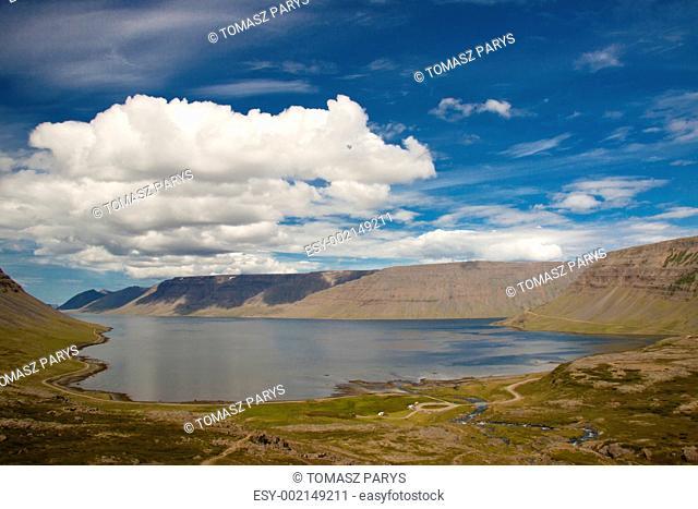 View on Dynjandisvogur fjord - Iceland