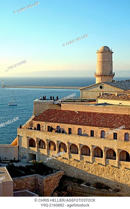 Fort Saint Jean & Lighthouse at the Entrance to the Vieux Port Marseille France
