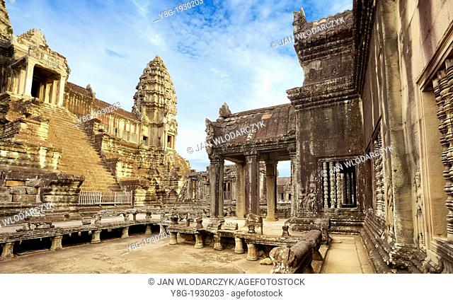 Cambodia, Angkor Temples complex - Angkor - monumental city which remained after the old capital of Khmer Empire, Angkor Wat Temple, Cambodia, Asia (UNESCO)
