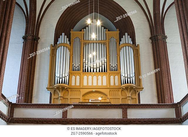 The organ in the Holy Cross church, Frankfurt (Oder), Germany