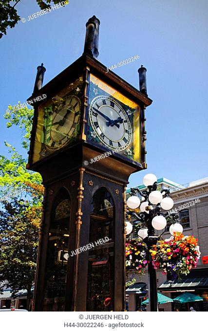 Steam clock in Gastown, Vancouver City , Canada, North America