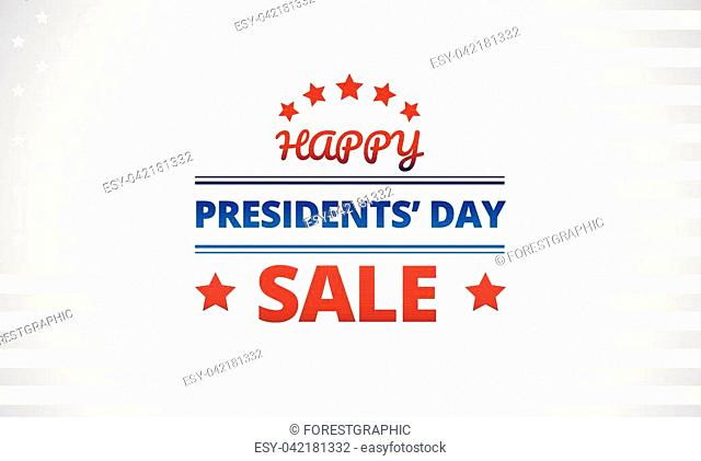 Presidents Day Sale vector banner background