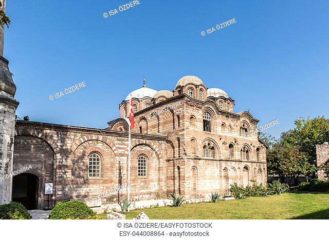 Exterior view of Fethiye Camii (Pammakaristos Church,Byzantine church) in Carsamba vicinity of Fatih county of Istanbul,Turkey. 15 October,2017