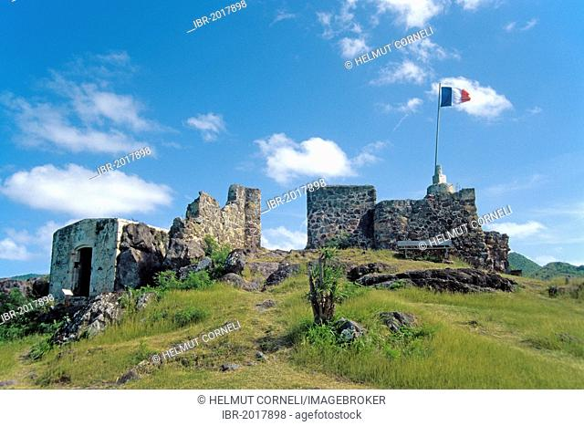 Fort Louis, Marigot, St. Martin, an overseas collectivity of France, former Netherlands Antilles, Caribbean