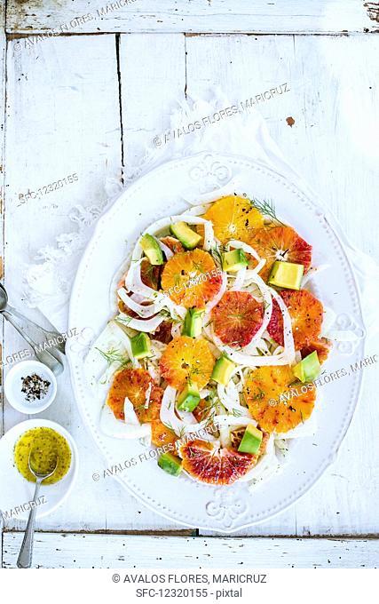 Orange and fennel salad with vinaigrette