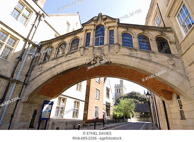 Bridge of Sighs, Oxford, Oxfordshire, England, United Kingdom, Europe