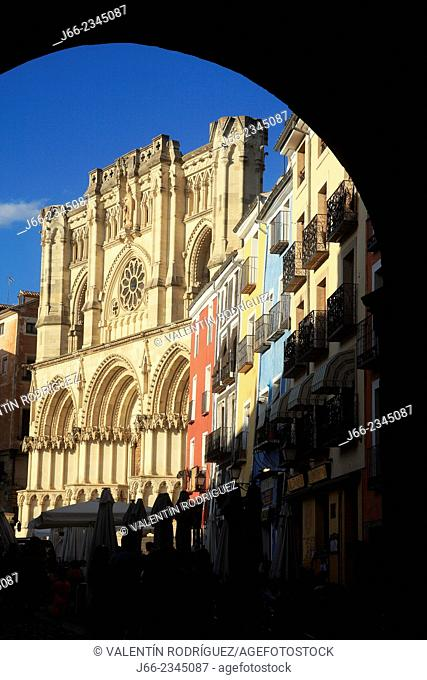 View of the Cathedral from the Town Hall. Cuenca, Spain