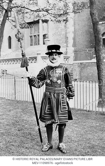 A Yeoman Warder in state dress uniform