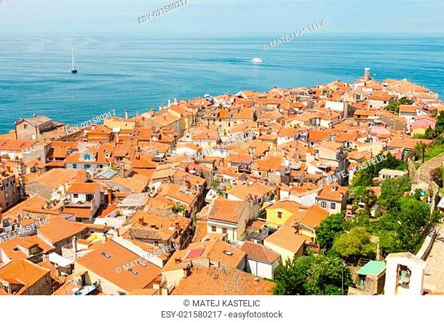 Picturesque old town Piran, Slovenia