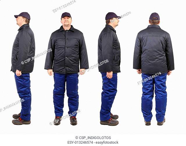 Worker in winter workwear