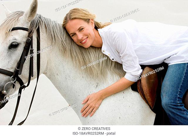 Horse with girl rider