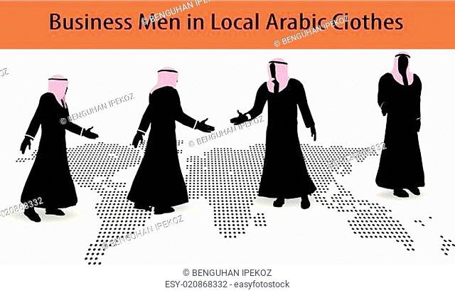 Doing business in middle east hand shake on business agreement