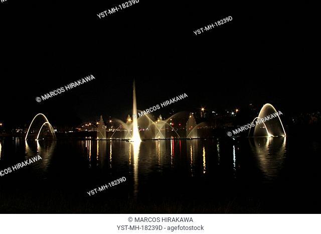 Night landscape of the Ibirapuera Park, São Paulo, Brazil