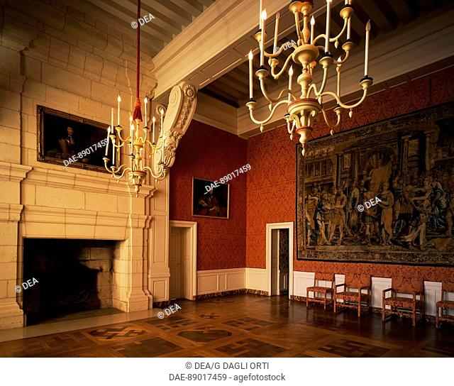 Dauphine's room in Dauphine's apartment, Chateau de Chambord, Loire Valley (UNESCO World Heritage List, 2000). France, 16th century